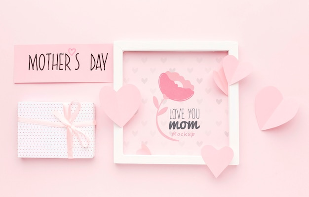 Top view mothers day concept