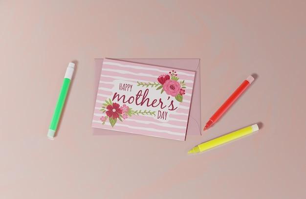 상위 뷰 어머니의 날 인사말 카드