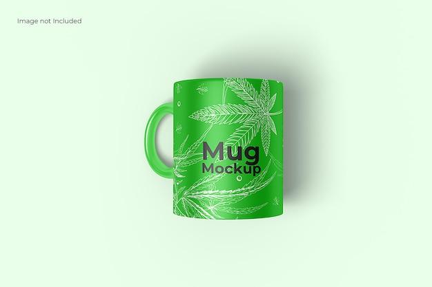 Top view mug mockup
