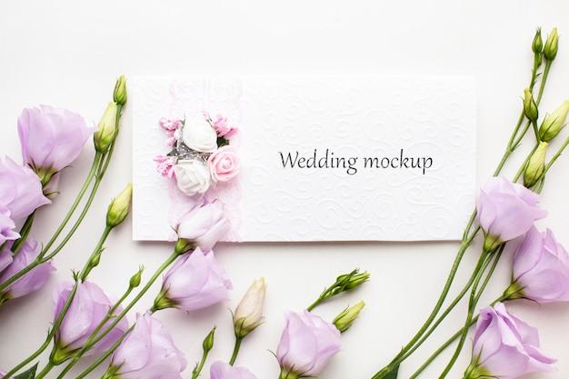 아름다운 결혼식 개념 모형의 상위 뷰