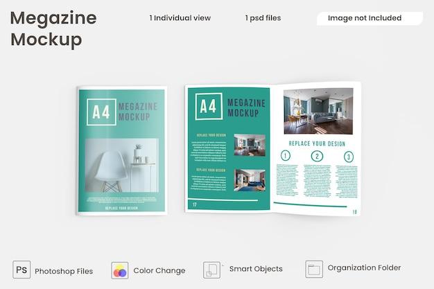 パンフレットとカタログのモックアップの上面図premiumpsd