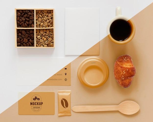 コーヒーコンセプトのモックアップの上面図