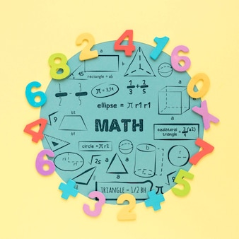 수학에 대 한 다채로운 숫자의 상위 뷰