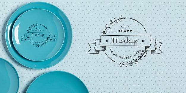 食器コンセプトのモックアップの平面図