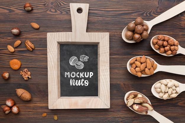 おいしいナッツのモックアップの上面図