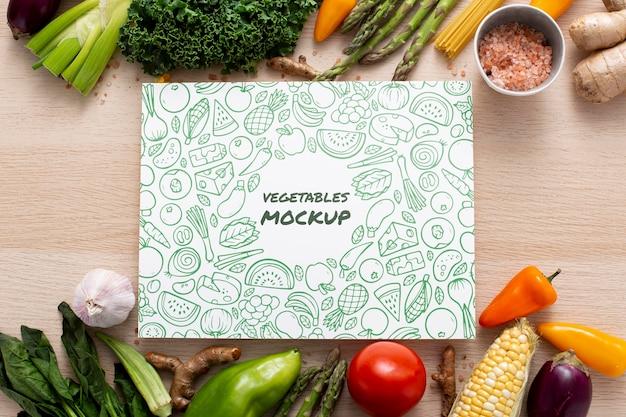 健康野菜コンセプトモックアップの上面図