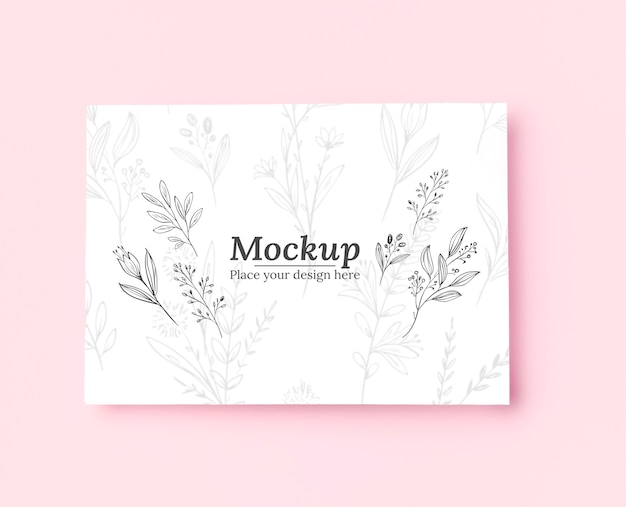 植物とモックアップの上面図