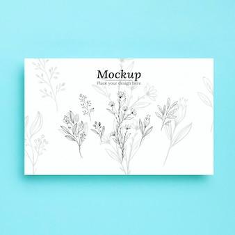植物のモックアップの上面図