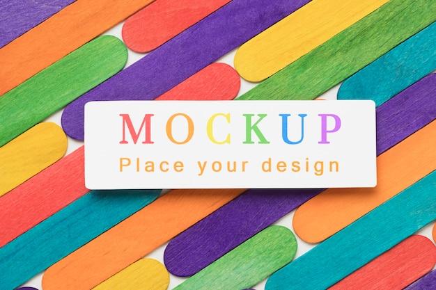 多様性のための虹色の上面図
