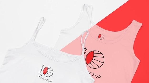 T- 셔츠 개념 모형의 상위 뷰