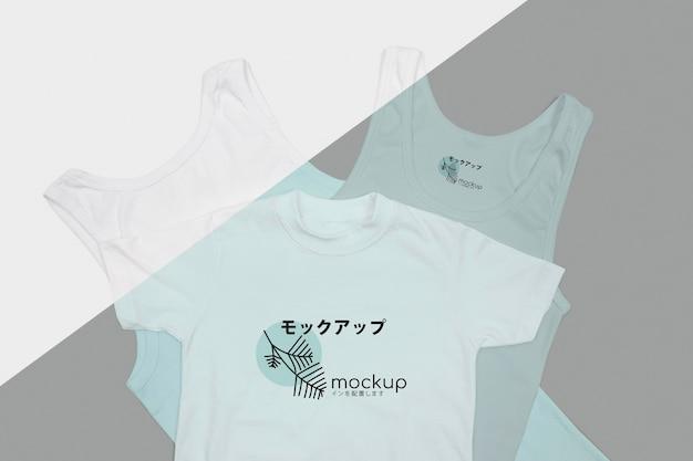 Tシャツコンセプトモックアップの上面図