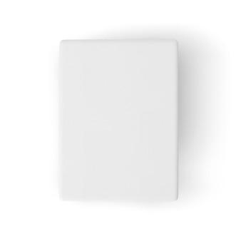 白いマットレスモックアップの平面図