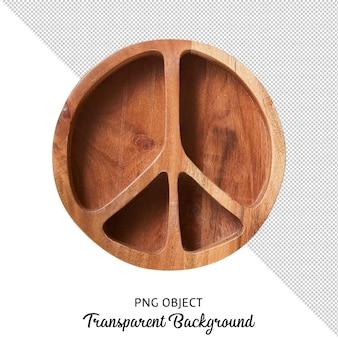 고립 된 나무 칸막이 판의 상위 뷰