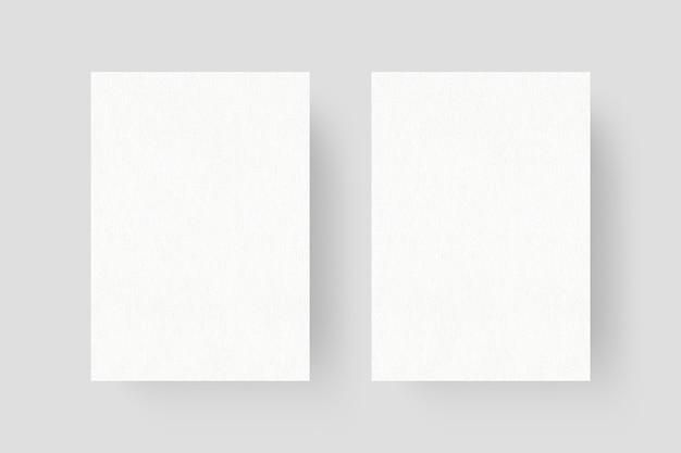 きれいなチラシのモックアップの上面図