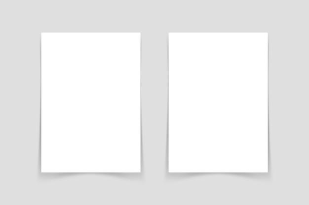깨끗한 전단지 모형의 상위 뷰