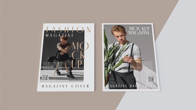 開いた雑誌のデザインのモックアップの上面図 無料 Psd