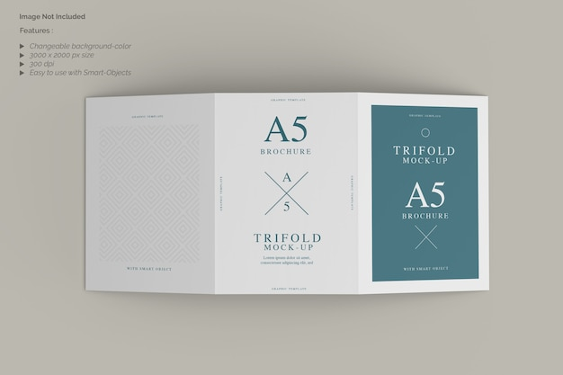 Trifold mockup의 상위 뷰