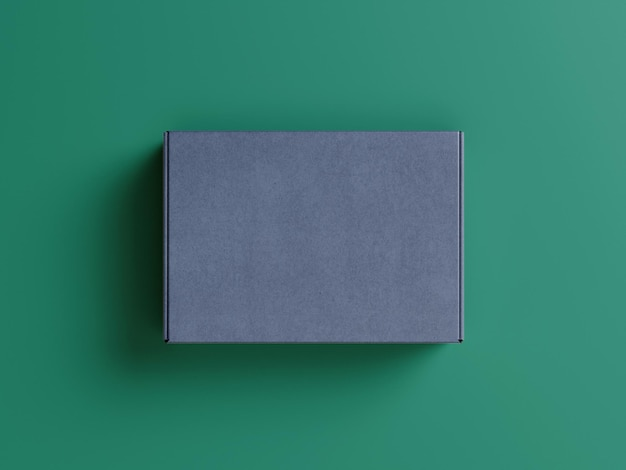 トップビューのパッケージボックスのコンセプトのモックアップ