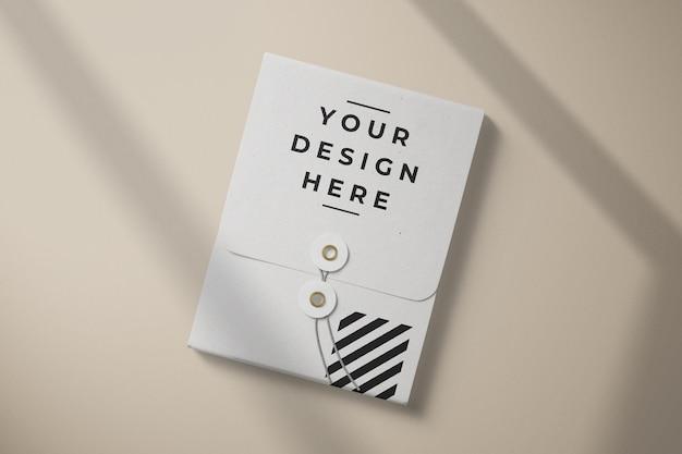 상위 뷰 종이 상자 봉투 카드 포장 모형