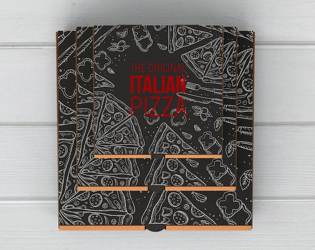 Top view pizza boxes mockup