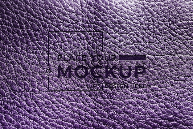 Top view of purple leather material