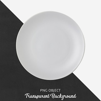 Top view of round gray plate mockup Premium Psd