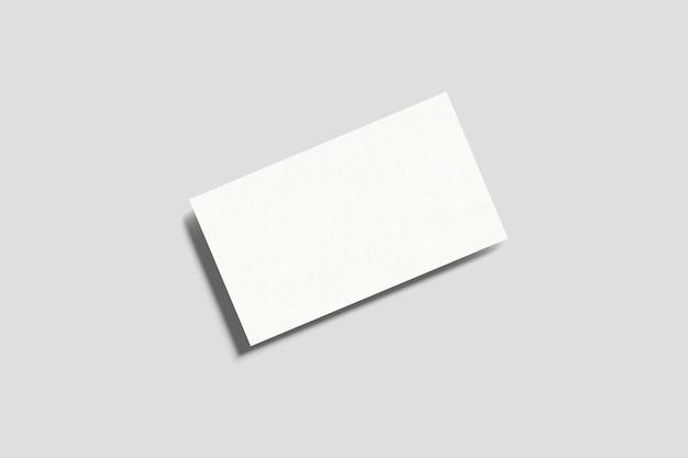 상위 뷰 단일 페이지 명함 모형