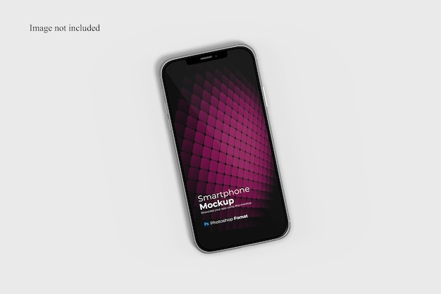 Top view smartphone mockup
