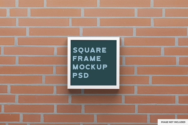Top view on square birch frame mockup