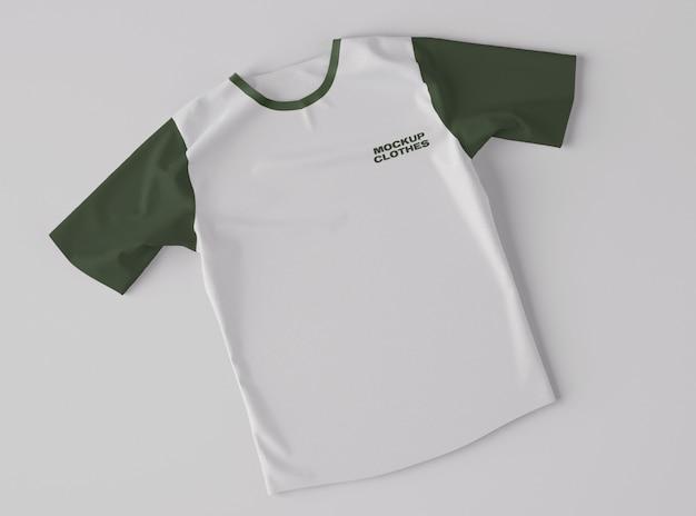 Top view of t-shirt mockup