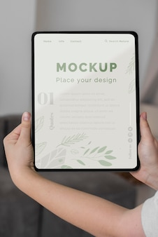 Top view tablet mock up