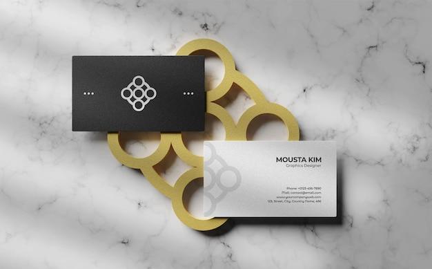 Дизайн макета визитной карточки сверху