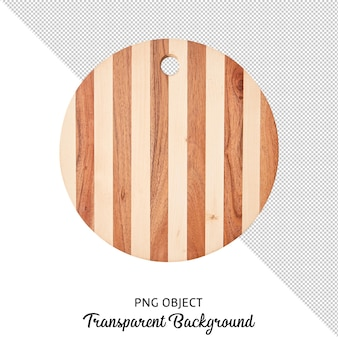 Top view of wooden serving board or cutting board isolated