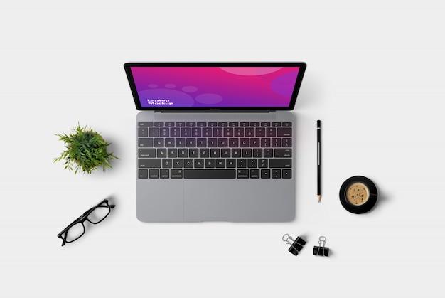 Ноутбук topview mockup