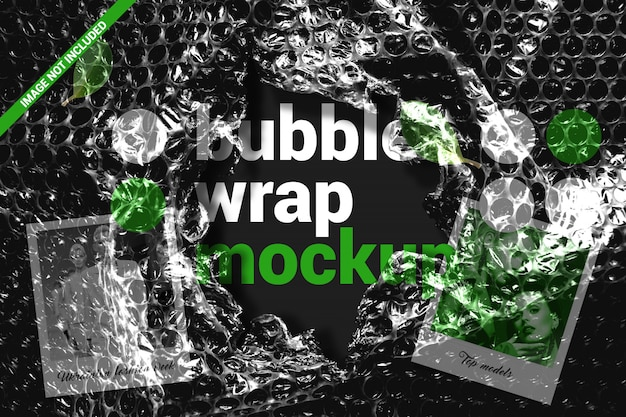 Torn bubble wrap mockup