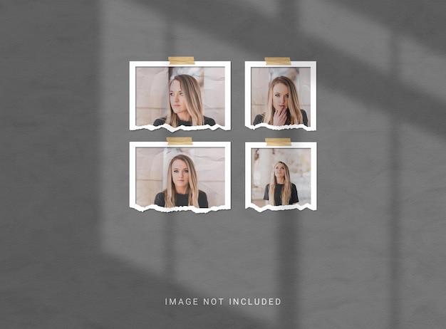 Torn photo frame mockup