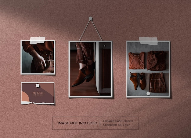 Torn ripped paper and frame mockup