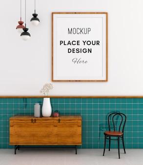 Керамическая плитка tosca с рамкой для макета на стене мемфисского зала