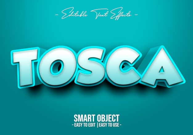 Tosca text style effect