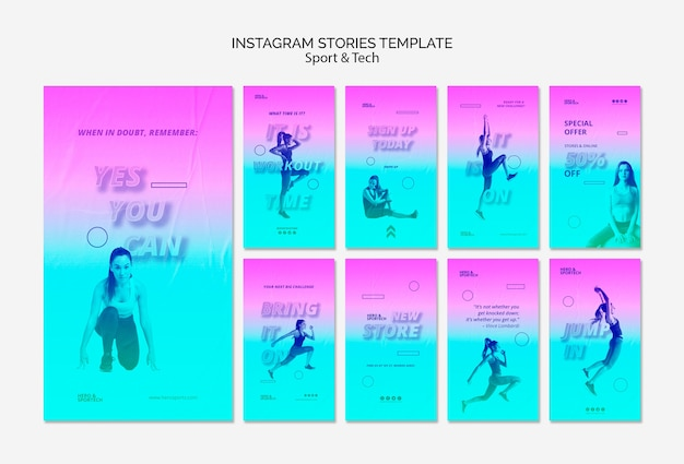 Total workout instagram stories template