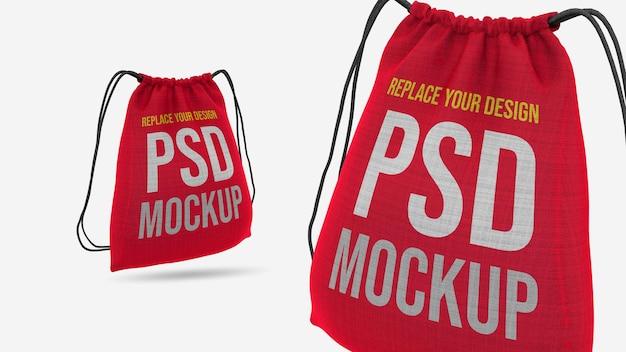 Tote bag 3d rendering mockup design Premium Psd