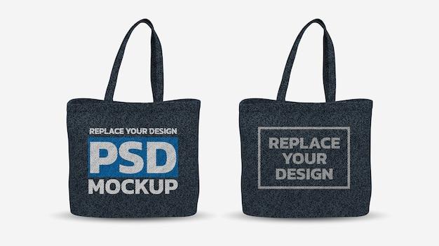 Сумка-тоут 3d-рендеринг mockup design