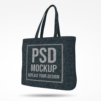Tote bag 3d rendering mockup design