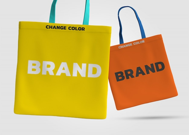 Tote bag mockup 3d rendering  design
