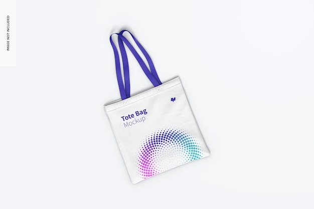 Tote bag mockup, top view