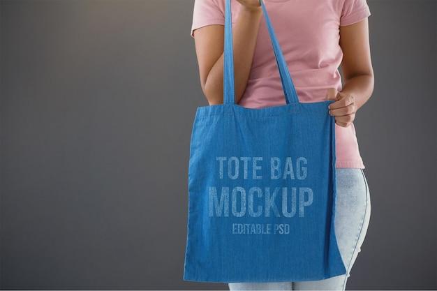 Мокап для фотошопа с большой сумкой