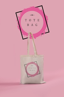 Tote bag with mock-up