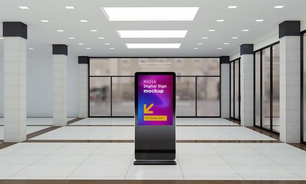 토템 및 키오스크 디지털 간판 3d 렌더링 모형