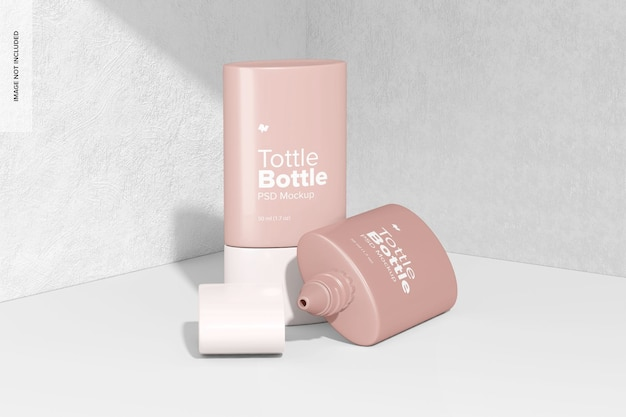 Tottle bottlesモックアップ、開閉