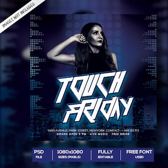 Touch friday social media post template